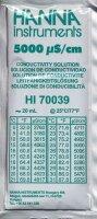 Leitfähigkeitslösung 5000 µS 20 ml Beutel