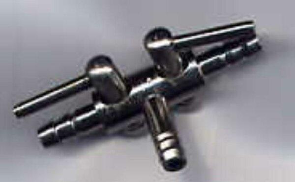 Metall Lufthahn 4/6 2-Wege