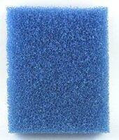 Filterschaumstoff blau 50 x 50 x 10 cm fein