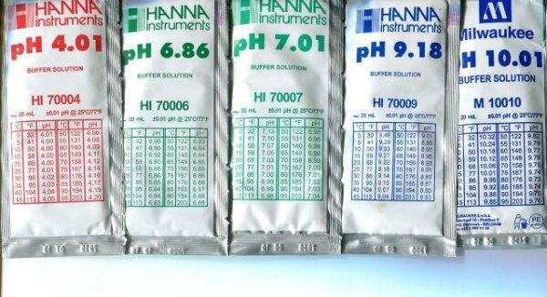 20 x Kalibrierlösung für pH-Messgeräte