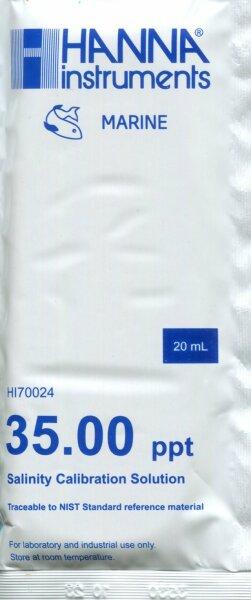 HI70024P Kalibrierlösung 35,00ppt, 25 x 20mL-Beutel für HI98319